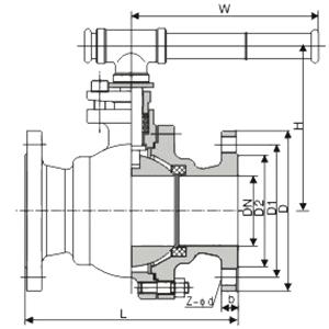 进口不锈钢法兰球阀被广泛的应用在石油炼制