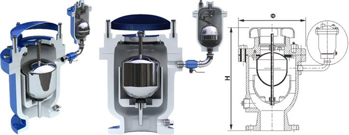 复合式高速动力空气阀fgp4x,复合式空气阀,上海枚耶阀门图片