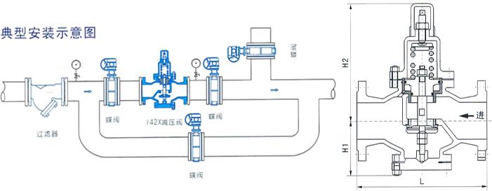 两侧并联下水管安装结构图