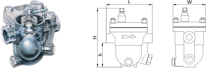 进口自由浮球式蒸汽疏水阀厂家 德国力特lit品牌图片