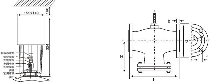 进口电动两通调节阀图片